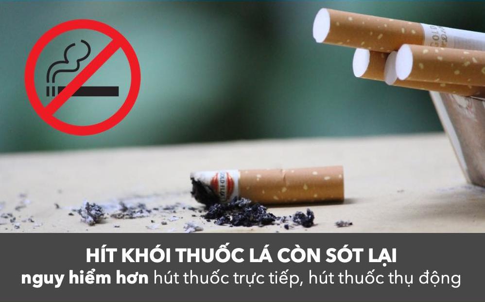 Tác hại kéo dài của khói thuốc còn sót lại sau khi hút thuốc thumbnail